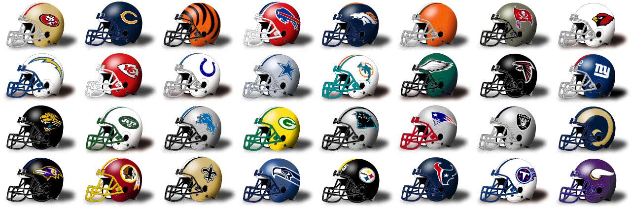 nfl helmets football helmet teams clipart team logos quiz coolest 32 ever quarter sporcle bowl future something star struck coach